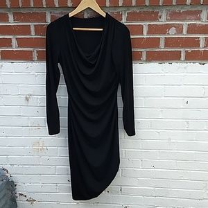 Elie Tahari ruched cowl neck LBD size small NWOT